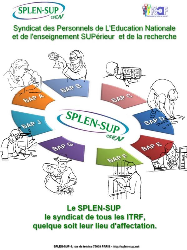 LE SPLEN-SUP, LE SYNDICAT DE TOUS LES ITRF QUELQUE SOIT LEUR LIEU D'AFFECTATION