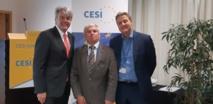 R. Wollf, président de la CESI, J-C Halter président de l'Académie Europe, K. Heeger, secrétaire général de la CESI
